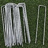 Lawn World - 20 Erdanker aus Metall verzinkt, rostfrei 150 mm lang, 30 mm breit aus 3mm dicken Stahl