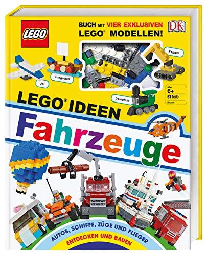 LEGO® Ideen Fahrzeuge: Buch mit vier exklusiven LEGO® Modellen. Autos, Schiffe, Züge und Flieger entdecken und bauen - Züge, Modell Autos