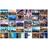 Artistiques belles cartes postales de collection 30 PCS 1 Set du monde, New York...