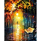 "Glowvia Painting Couple On Road/Wall Decor/Home Decor/Size 18""x24"" Inches"