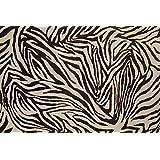 Cortina para ducha impermeable diseño rayas blancas y negras estilo cebra 180 x 180 cm