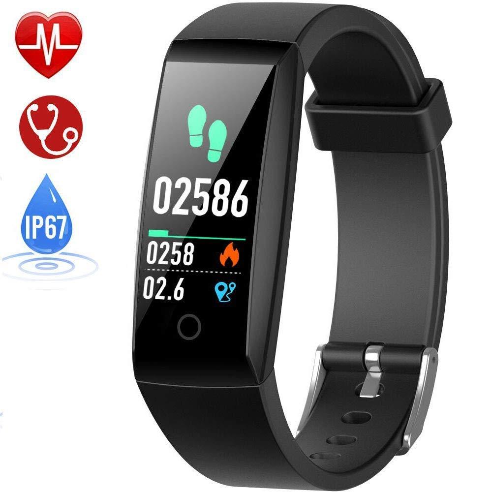 HETP Pulsera de Actividad, Reloj Inteligente con Pulsómetro y Presión Arterial Relojes Deportivos GPS Impermeable IP67… 1