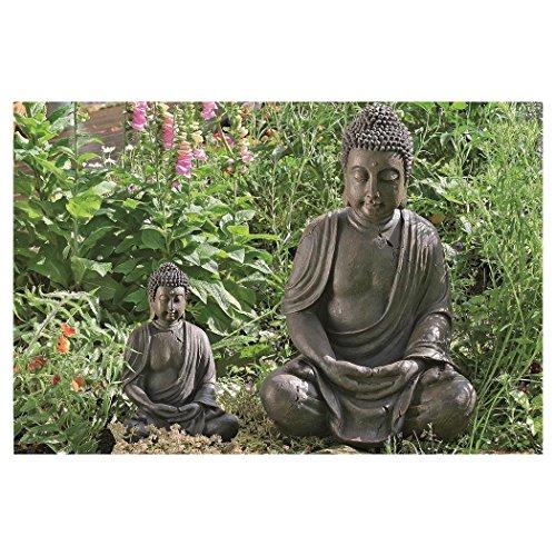 Deko-Buddha sitzend, ca. 40cm hoch in Braun - 3