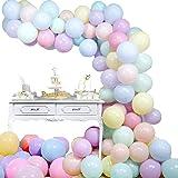 Globo Garland Arch Kit Decoraciones de cumpleaños en colores pastel Globos Macaron Globo de látex para cumpleaños Fiesta de b