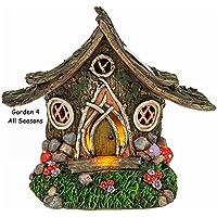 Fairy Garden Solar Light LED lluminated House Dwelling Pixie Fantasy Minature Ornaments - Woodland Cottage