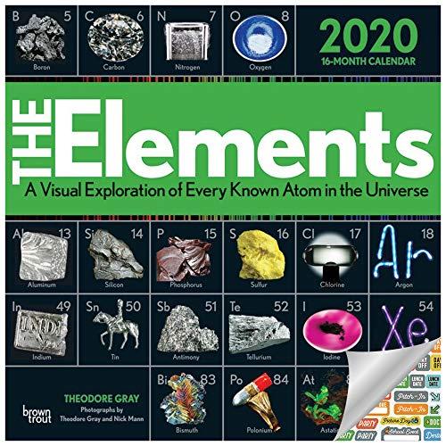 The Elements Kalender 2020 Set - Deluxe 2020 Periodensystem Wandkalender mit über 100 Kalenderaufklebern (Geschenke, Bürobedarf)