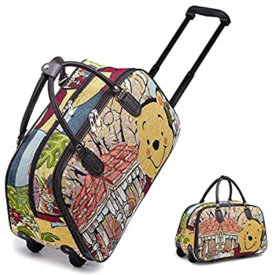 Disney Funky Winnie Pooh Vintage Holdall Trolley Bag Hand Luggage Travel Size