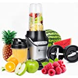 PureMate 1000W Nutrition Smoothie Maker | Juicer and Food Processor Fitness Blender Machine | Power Grinder with Stainless Steel Blades and 3 Speed Settings