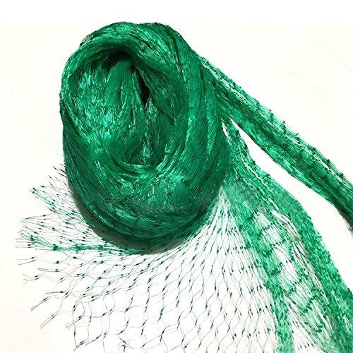Rete mesh a maglia verde per uccelli, misura: 4 x 10m, con fori di 1,5x 1,5cm, rete per protezione di piante, stagni o per controllo dei parassiti