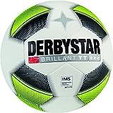 Derbystar Fußball Brillant TT, Trainingsball, Ball Größe 5 (420-440 g), weiß gelb schwarz, 1016