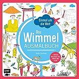 Einmal um die Welt - Das Wimmel-Ausmalbuch: 5 Meter Malspaß für Groß und Klein