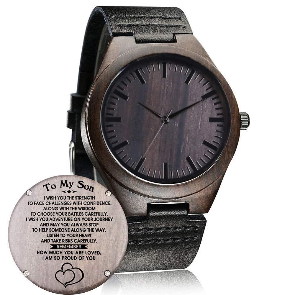 Reloj de Madera Grabado Personalizado, Casual Hecho a Mano, Reloj de Madera para Hombres y Mujeres, Amigas Familiares, Regalo Personalizado