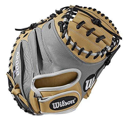 WILSON Sporting Goods 2019A2000CM33Pedroia Passform Catcher Baseball-Handschuhe-Rechte Hand Überwurf Blonde/weiß/grau Superskin, 83,8cm