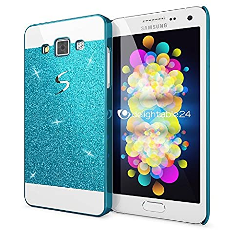 Samsung Galaxy A5 2015 Hard-Case by NICA, Sparkly Mobile Phone Back-Cover Ultra-Thin Skin Protector, Sparkle Glitter Shock-Proof Bumper Flexible Slim-Fit Protective Bling Backcase for A5-2015 -