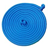 Gymnastik-Springseil 5 Meter verschiedene Farben zur Auswahl (blau)