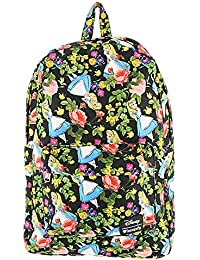 Alice in Wonderland Floral Backpack