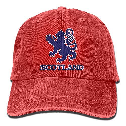 Rghkjlp Schottischer Flaggen-Löwe-Weinlese gewaschener gefärbter Baumwolltwill-niedrige justierbare Baseballmütze Multicolor62 (Kangol-hüte Camo)