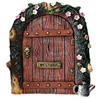 FHFY Garden Fairy door - ideal for gardens and bottom of trees/minature rustic door for elves pixies and fairies ...