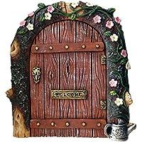 Puerta de hadas–Ideal para jardines y base de tronco de árboles en miniatura/rústico puerta para duendes y hadas