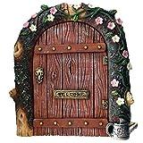 Miniatur-Feen-Tür, ideal für Gärten und Bäume, rustikale Tür für Elfen, Heinzelmännchen und Feen