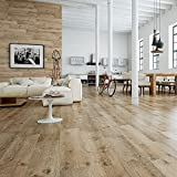 Madagascan Oak Wood Effect Porcelain Floor 1200x230x10mm Tile, Per Sqm