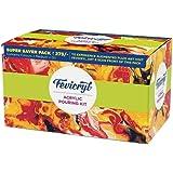 Pidilite Fevicryl Fluid Acrylic Pouring Kit, 3 Acrylic Colours (100ml Each), 3 Pouring Mediums, 1 Silicon Oil