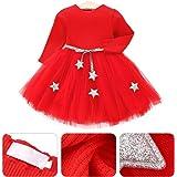 Livoral Kleinkind Baby Kinder M/ädchen Langarm Karotten Print T/üll Patchwork Kleider Kleidung