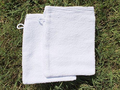 Set di 2 guanti da bagno ANTIOCHE Bianco