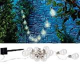 Lunartec Garten Deko: Solar-LED-Lichterkette im Glühbirnen-Look, 12 Birnen, warmweiß, 8,5 m (Solar Lichterkette außen)