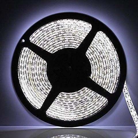 Forepin® Non-étanche LED Strip Bande SMD 3528 60LEDs/m Flexible Doux DIY Lampe Ruban Lumineux Strip Light Blanc - 2 Mètre
