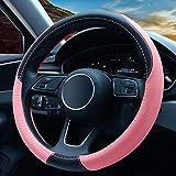 Universale Coprivolante Auto in pelle - Antiscivolo & Accessori di Protezione del Volante Traspirante, Ottimo regalo per donn