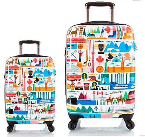Kofferset, Gepäckset, Reisegepäck by Heys - Premium Designer Hartschalen Kofferset 2 TLG. - Künstler Fernando Kanada Handgepäck + Koffer mit 4 Rollen Gross