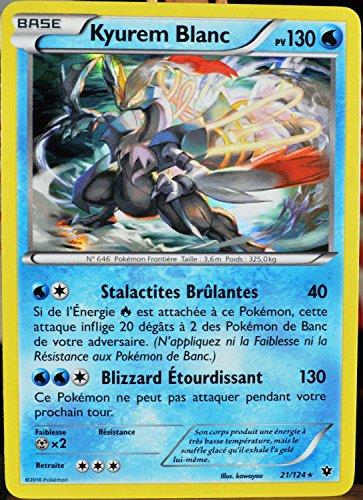 carte Pokémon 21/124 Kyurem Blanc 130 PV - HOLO XY - Impact des Destins