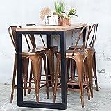 Maison ESTO Industrie Design Bartisch Jack 140 x 70 Stehtisch Bistrotisch Bartresen Metall