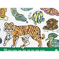 Melissa & Doug Jumbo Coloring Pad - Animals (50 Pictures, 11 x 14 Inches)