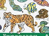 Melissa & Doug Jumbo Colouring Pad (30 x 36 cm) - Animals, 50 Pictures