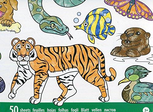 Melissa & doug 14200 - blocco gigante per colorare animali