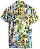 LA LEELA Mens Beach Hawaiian Shirt Button Down Collar Aloha