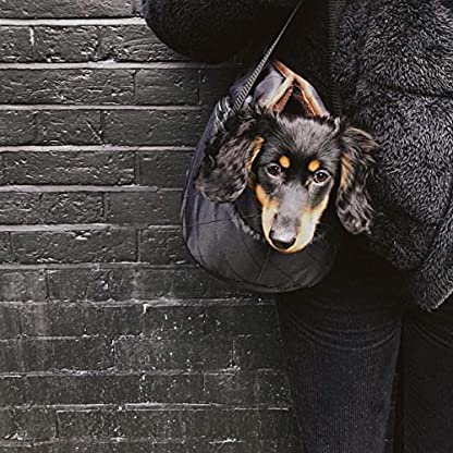 Me and My Pets Black Quilted Carrier 2