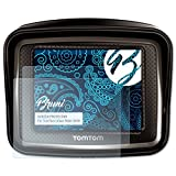 Bruni Schutzfolie für Tomtom Urban Rider (2010) Folie - 2 x glasklare Displayschutzfolie