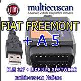 Multiecuscan Interface ELM327 + licence logiciel Service OBD2 Fiat Freemont A5...