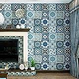 Vlies Tapete Wandtapete Nachahmung Fliese Wallpaper Hintergrundbild Böhmen Nationalen Brise Mittelmeer Im Südostasiatischen Stil Wohnzimmer Küche, 0,53 * 9,5 M