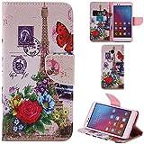 Ooboom® Huawei Honor 5X Hülle Flip PU Leder Schutzhülle Handy Tasche Case Cover Wallet Standfunktion mit Kartenfächer für Huawei Honor 5X - Eiffelturm Blume