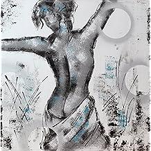Angie Decoration Cuadro Figurativo Moderno Mujer Espalda, Acrílico, Gris, 100x4x100 cm