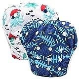 Storeofbaby Pantaloni impermeabili riutilizzabili con pannolini da nuoto Pantaloni da nuoto unisex 0-3 anni