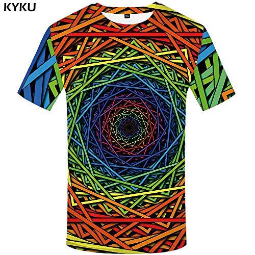 KYKU Eminem T-Shirt Männer Charakter T-Shirt Stadt Cool 3D Druck T-Shirt Punk Rock Kleidung Gothic Herren Kleidung Neue Sommer Top - Neue Herren-rock
