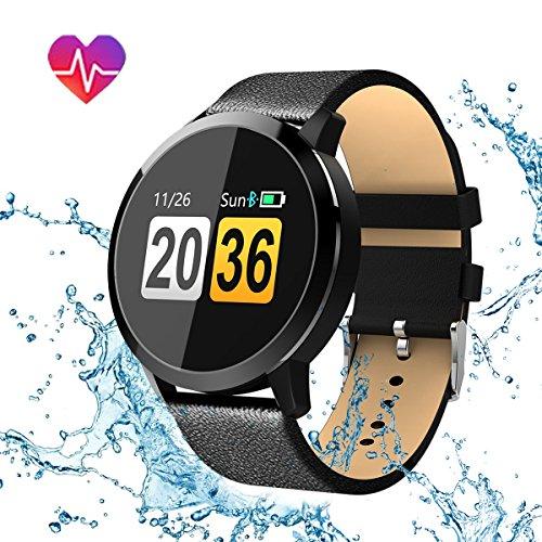 Smartwatch-Uhr-Intelligente-ArmbanduhrHizek-Armband-Sport-mit-HerzfrequenzKameraSchrittzhlerSchlaftrackerRomte-Capture-Kompatibel-mit-Android-iOS-Smartphone