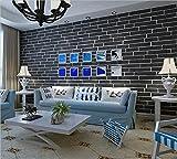 H&M Einfache Vliesstoffe Nachahmung Ziegel Tapete 3D Retro Wohnzimmer TV Hintergrund Tapete 0.53 * 10.00 (m) 5 Farben zur Auswahl-cremig-weiß Hellbraun rotes Licht Grau Dunkelgrau , Dark Gray