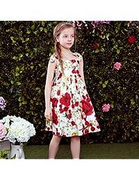 Morbuy Ropa de Niñas, Niñas Niños Estampado de Algodón Vestido de Fiesta de Princesa Vestidos
