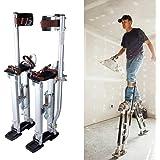 Stilts Per Cartongesso In Alluminio,Trampoli Regolabili 61-100Cm (24-40In),Trampoli da Pittore,Cavalletto Uso Manutenzione,Tr